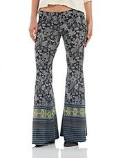 Paisley Patterned Flare Pants