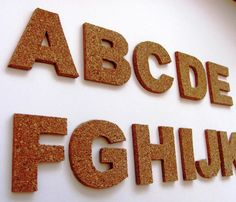 """3D cork self-adhesive letters, wall decor, cork alphabet, motivation quotes on the wall, sign marketing (2"""", 4"""", 6"""", 8"""" & 10"""",...)"""