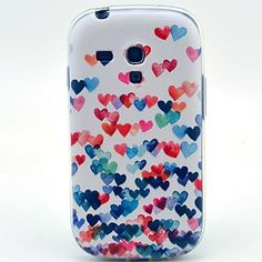 Samsung S3 Mini I8190N verenigbaar Grafisch/Speciaal ontwerp Plastic/PU Leder Back Cover/Full Body Cases – EUR € 1.92