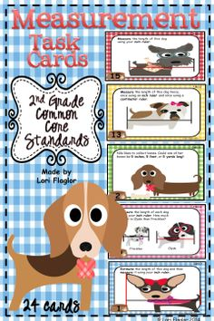 Measurement Task Cards for 2nd Graders