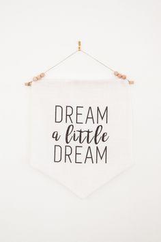 Dream a Little Dream 12x14 Wall Pennant | Dream Catcher | Dream Big Little One | Nursery Decor | Baby Shower | Home Decor Minimalist Modern