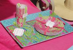 Love these Lilly Pulitzer melamine plates and trays!