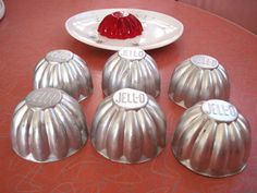 1950s individual aluminum Jell-O molds - I always thought it was fun when I got my own personal Jell-O molded salad