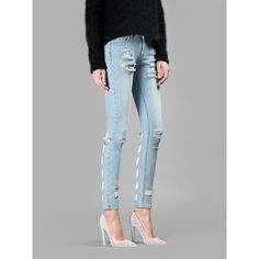 Off White C/O Virgil Abloh Jeans ($485) ❤ liked on Polyvore
