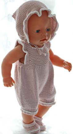Doll clothes knitting instructions - A comfortable and cute summer suit, super . : Knitting doll clothes instructions – A comfortable and cute summer suit, great for your doll on a hot summer day Baby Born Clothes, Boy Doll Clothes, Knitting Dolls Clothes, Doll Clothes Patterns, Doll Patterns, American Girl Outfits, Girl Dolls, Baby Dolls, Baby Born Kleidung