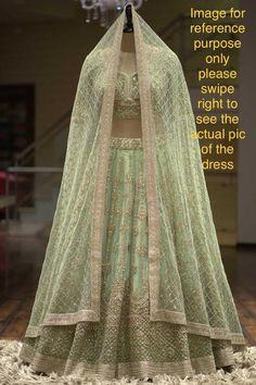 Excited to share this item from my #etsy shop: VeroniQ Trends-Designer Pastel Green Lehnga Blouse with Gold Embroidery for wedding,Bridesmaid,Party,Indian dress-VF #clothing #women #green #dress #sari #fitflare #no #34sleeve #boat Bridal Lehenga Online, Indian Bridal Lehenga, Indian Bridal Outfits, Bridal Dresses, Wedding Lehnga, Wedding Outfits, Dress Wedding, Bridesmaid Dress, Shadi Dresses