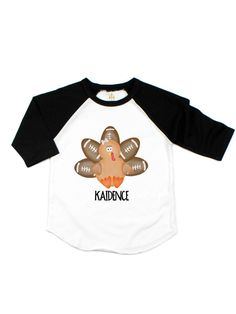 Cool Funny Colorful Turkey Art Cartoon 2-6 Years Old Child Short-Sleeved Tshirts