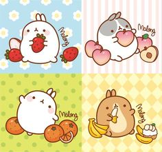 Molang with fruit