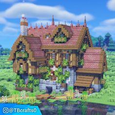 Minecraft House Plans, Minecraft Mansion, Minecraft Cottage, Cute Minecraft Houses, Minecraft House Designs, Minecraft Blueprints, Cool Minecraft, Minecraft Crafts, Minecraft Ideas