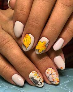 Bright Nails, Purple Nails, Green Nails, Nails Kylie Jenner, Fall Nail Art Designs, Cat Nails, Autumn Nails, Nagel Gel, Flower Nails