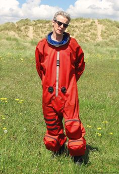 Peter Capaldi on set - Doctor Who series 8 - May 21, 2014  Look! It's the orange jumpsuit! I have a strong emotional connection to that thing....
