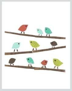 Birds print by Rebecca Peragine of Children Inspire Design