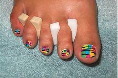 uñas pintadas de pies - Buscar con Google