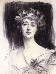 Daisy, Princess of Pless by John Singer Sargent. Realism. portrait