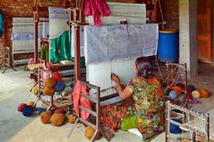 The rug weaving process has been around for thousands of years. Due to its success and sturdiness of the rugs, there has been little need for change and the process is still used today.