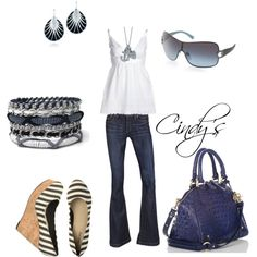"""Navy and White"" by cindycook10 on Polyvore"