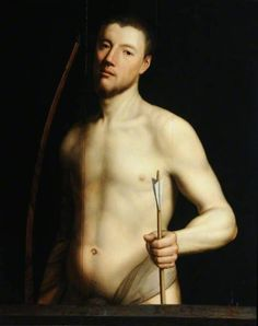 "pmikos: "" St Sebastian by Antonis Mor Museums Sheffield Date painted: c.1550 """