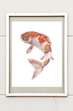 Orange Koi - Fin and Feather Art