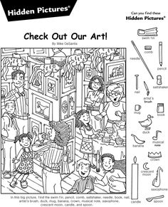 Wimmelbild-Buch StopHidden People Fun im Nature Center - answers - Dessin Halloween Activities For Kids, Preschool Activities, Coloring Sheets, Coloring Pages, Hidden Pictures Printables, Hidden Picture Puzzles, Hidden Images, Picture Blog, Hidden Objects