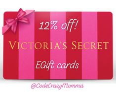 Online only while supplies last, card value guaranteed for 1 year after purchase date 1 of my go to discount gift card sites, I always get my egift cards within 30 minutes of ordering Thank you for using my affiliate link :) Discount Gift Cards, Lotion, The Secret, Victoria Secret, Lingerie, Shop, Gifts, Stuff To Buy, Accessories