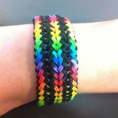 rainbow loom band bracelet
