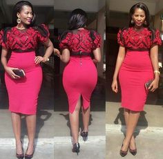 Perfect African Women& Office Wears Classy,Stylish And Colorful Styles For The Career Ladies Short African Dresses, African Print Dresses, African Fashion Dresses, African Attire, African Wear, African Women, African Lace, Look Fashion, Fashion Outfits