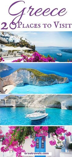 The most beautiful places to see in Greece. Find out which places to visit and w… The most beautiful places to see in Greece. Find out which places to visit and what to do in Greece. Where to go in Greece I Best islands in Greece I Beautiful Places To Visit, Cool Places To Visit, Beautiful Beaches, Beautiful Islands, Beautiful Beautiful, Best Places To Travel, Greek Islands To Visit, Greece Islands, Greece Vacation