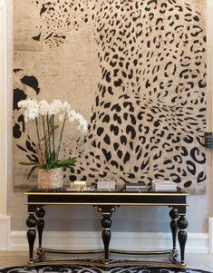 Helen Green was selected by this year's Coveted Edition as one of the TOP 100 Interior Designers. So, discover Amazing Console Table Designs by Helen Green! Decoration Bedroom, Wall Decor, Wall Art, Wall Mural, Animal Print Decor, Animal Prints, Animal Print Furniture, Animal Print Rooms, Animal Print Wallpaper