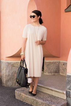 Peachy office dress Office Dresses, Shirt Dress, Casual, How To Wear, Shirts, Outfits, Clothes, Fashion, Outfit