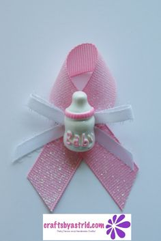 """#04-Guest Pins. Set of 12 Piece """"Bottle"""" Girl Baby Shower Guest Pin On Favors"""
