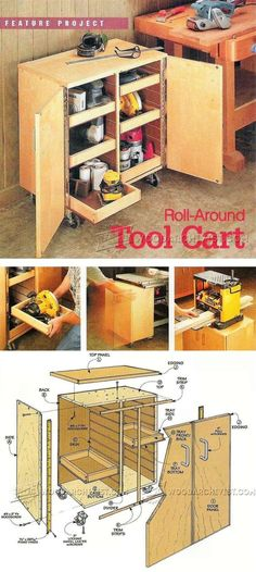 Roll-Around Tool Cart Plans - Workshop Solutions Projects, Tips and Tricks | WoodArchivist.com