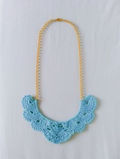 vestida de domingo collar crochet