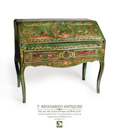 This fabulous piece above is a 18th Century Italian Secretaire with exotic 19th Century decoration, circa 1725.
