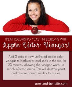 apple cider vinegar for yeast infection