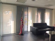 Panel japones de dos colores con tejido Screen Bicolor #solart #cortinas #screen #paneljapones #diseño #decoracion #barcelona