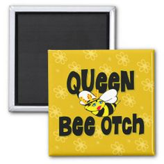 Shop Queen Bee otch Magnet created by chocolattedesigns. Funny Magnets, Round Magnets, Refrigerator Magnets, Paper Cover, Queen Bees, Get One, Are You The One, Shapes, Cool Stuff