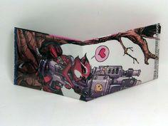 Comic Book Wallet// Rocket Raccoon, $4.00