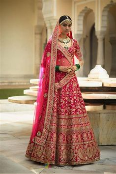 24f98e3a7d Pretty pink wedding lehenga choli online for women which is crafted from  banarasi silk fabric with exclusive zari embroidey and stone work.