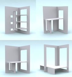 Flat pack designs are in danger of becoming altogether too dominated by stylistic affectations and functionless trends This refreshingly pragmatic vision for flat pack fu. Folding Furniture, Plywood Furniture, Modular Furniture, Space Saving Furniture, Design Furniture, Furniture Plans, Cool Furniture, Furniture Sets, Furniture Stores