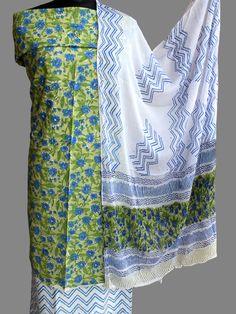 Georgette Dress Fabric Abstract Brush Strokes Print Blue /& Burnt Orange