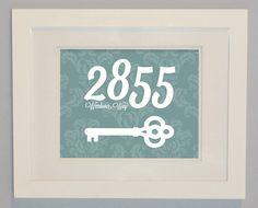 Personalized Home Address Key Wall Art Print