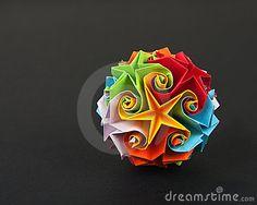 Esfera De Origami Fotos de archivo libres de regalías - Imagen: 13677388