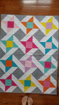 Custom Order Quilt- Baby Quilt-Modern Baby Quilts for Sale-Baby Blanket for Sale-Handmade Baby Quilt-Star Quilt Our over-sized Patchwork Quilts are perfect for on the go, in your nursery, or on your toddlers bed Star Quilts, Easy Quilts, Mini Quilts, Owl Quilts, Sampler Quilts, Quilting Projects, Quilting Designs, Baby Quilt Patterns, Quilt Baby
