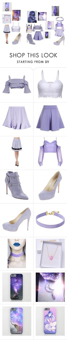 purple squd by lunawolf980 on Polyvore featuring Carven, Chicwish, Valentino, Brian Atwood, Vanessa Mooney and Lulu in the Sky