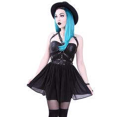 Hell's Boutique - Harness Dress Black Goth Nugoth Punk Punk HellsBoutique.com