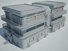 Futuristic Sci Fi Building 7 Architecture 3D Models