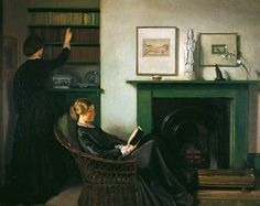 The Browning Readers (1900).William Rothenstein (English, 1872-1945). Oil on canvas. Bradford Museums and Galleries.