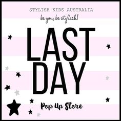 Today is the LAST Day you can grab awesome discounts from @stylishkids_popupstore event.  Visit our website to see our whole collection... There is FREE SHIPPING when you spend over $40.
