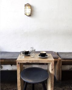 the art of slow living Wabi Sabi, Cafe Interior, Interior Design, Slow Living, Cafe Restaurant, Fine Dining, A Table, Light Table, Dining Table