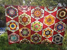 Rose star block quilts